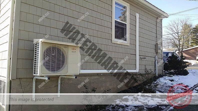 Неправильный монтаж наружного блока теплового насоса воздух-воздух