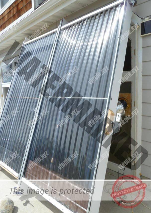 Правильная ориентация воздушного солнечного коллектора по вертикали