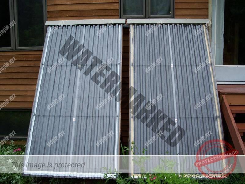 Воздушный солнечный коллектор с аккумулятором тепла