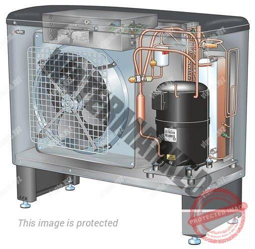 Внутреннее устройство теплового насоса воздух-вода