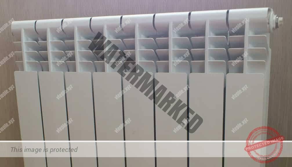 Радиатор с отсекателями воздуха