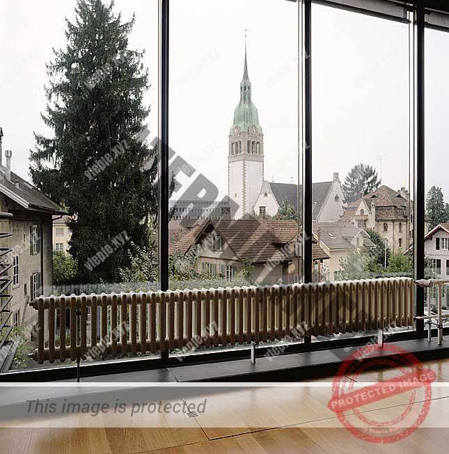 Правильная установка радиаторов отопления перед панорамным окном