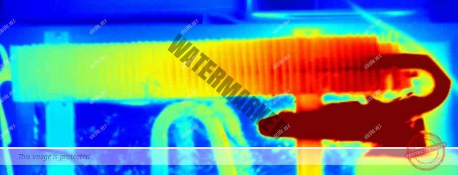 Теплообменник АБХМ в инфракрасном диапазоне