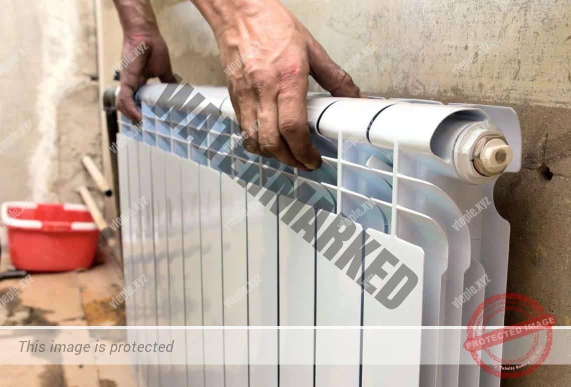 Установка алюминиевого радиатора