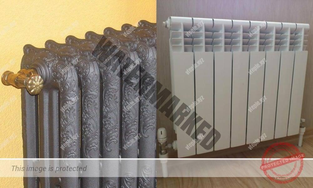 Чугунный и биметаллический радиатор