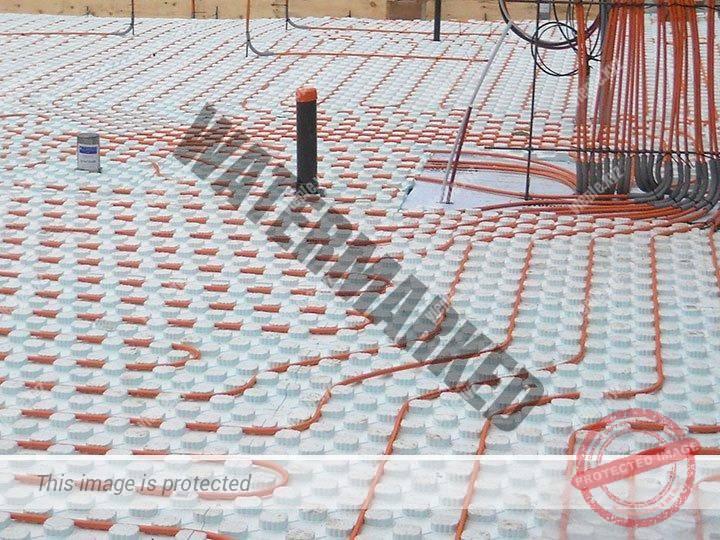 Универсальная пластиковая подложка под теплый пол