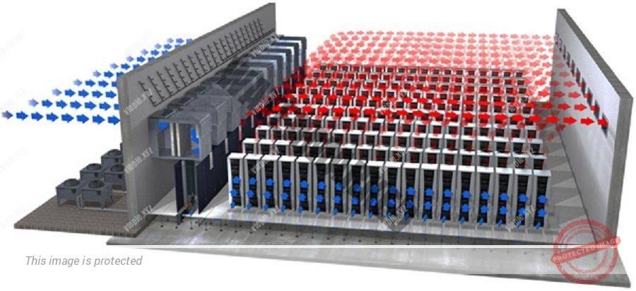 Схема подключения прецизионных кондиционеров с притоком воздуха