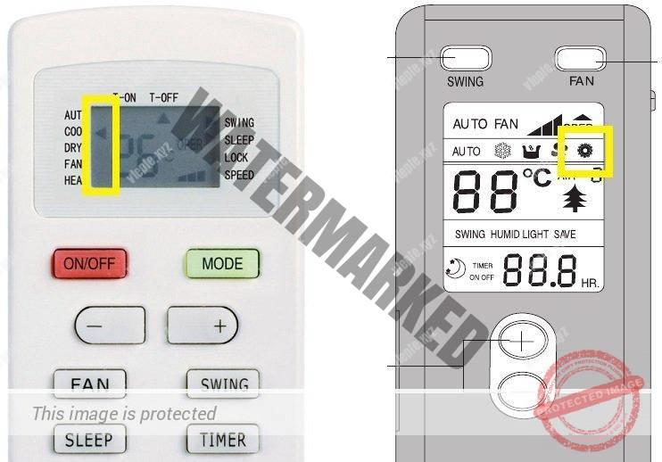 Gree air conditioner remotes width =