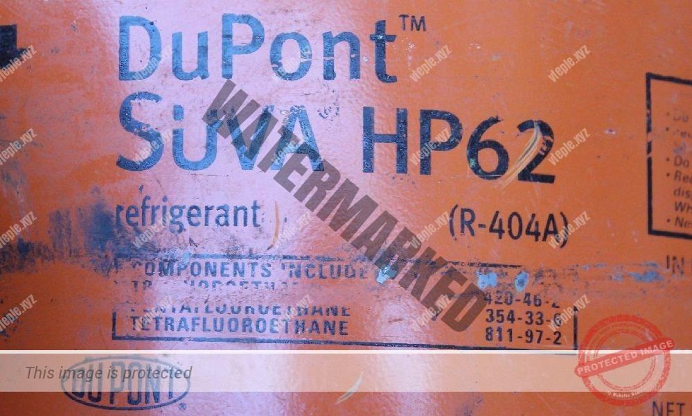 Маркировка на баллоне хладагента DuPont SUVA HP62, аналога фреона R404a